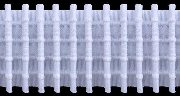 2701 - Tekli Pile Büzgü Şeridi / Beyaz