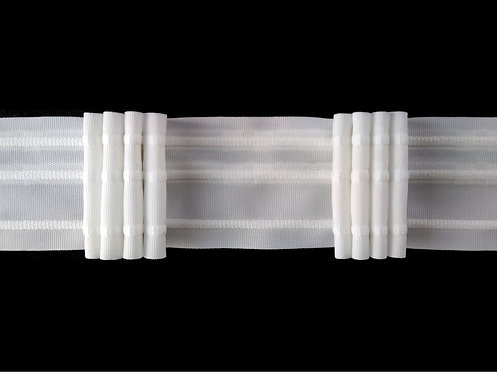 3244 - 4 Pleats Curtain Tapes / White