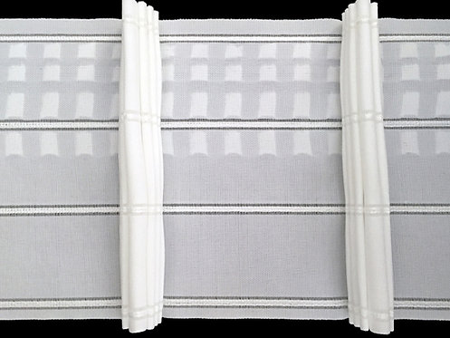 4085P - 7 Pleats Curtain Tapes / White