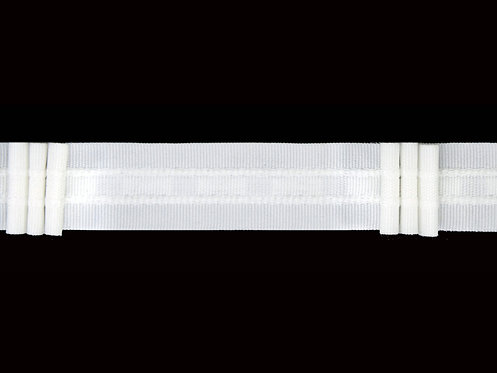 2043 - 3 Pleats Curtain Tapes / White