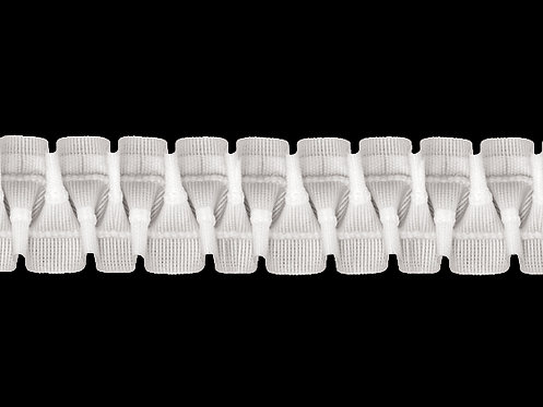 3858 Cross Pleats Curtain Tapes / White