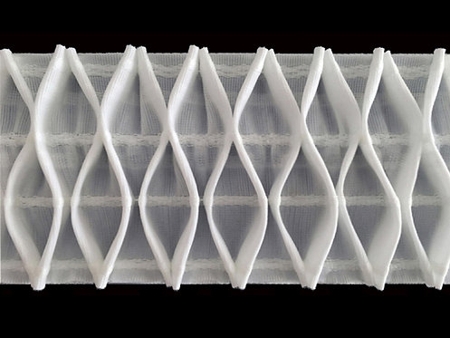 2898 Nest Pleats Curtain Tapes / White