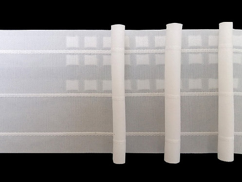 3962P.1 Pencil Pleats Curtain Tapes / White