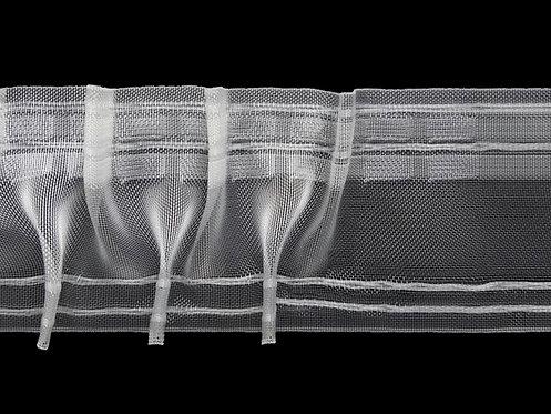 3713M Cross Pleats Curtain Tapes / Transparent