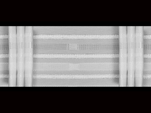 3512 - 3 Pleats Curtain Tapes / White