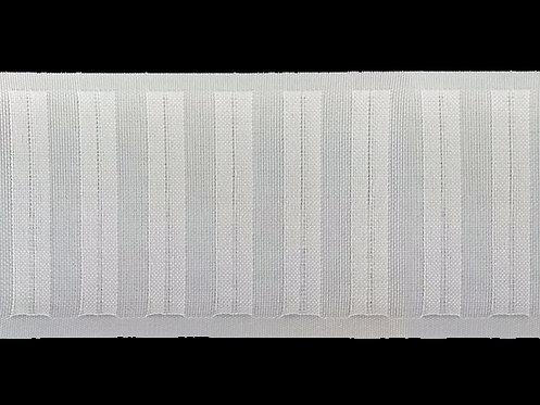 4203 - Halkalı ve Boru Pile Büzgü Şeridi / Beyaz