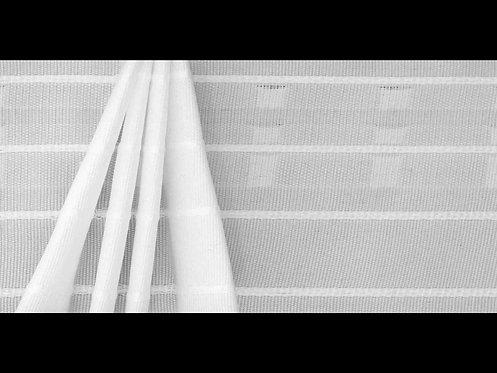 3955P-Aşa Kanatlı Büzgü Şeridi / Beyaz
