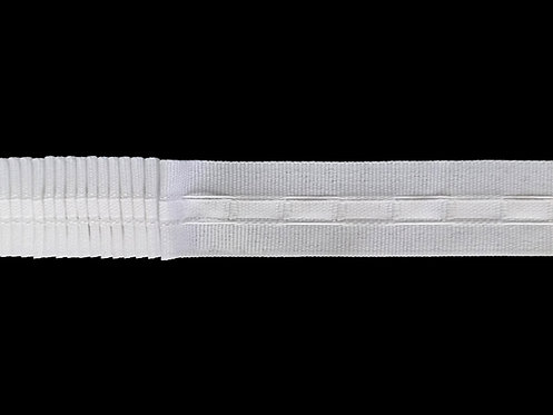 2360 Continuous Pleats Curtain Tapes / White