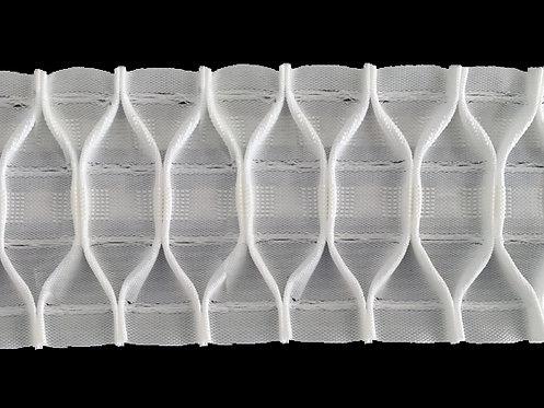3526 - Petek İşkembe Pile Büzgü Şeridi / Beyaz