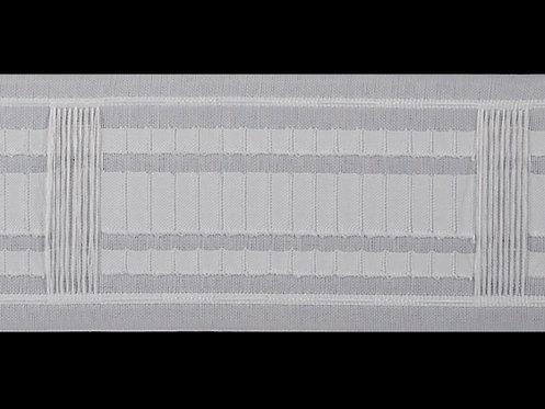 3745 - Köprülü & Rustik Pile Büzgü Şeridi / Beyaz