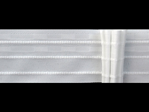 3907 - 5 Pleats Curtain Tapes / White