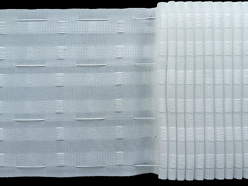 4284 Continuous Pleats Curtain Tapes / White