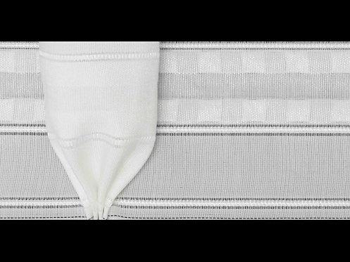 3944P-Yuk - Kadeh Pile Büzgü Şeridi / Beyaz