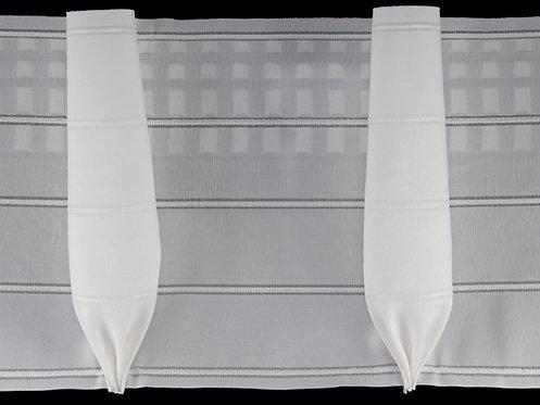 4079P - Kadeh Pile Büzgü Şeridi / Beyaz