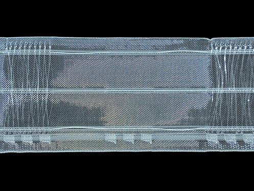 3874M - Köprülü & Rustik Pile Büzgü Şeridi / Şeffaf