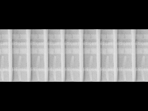 3428 Tekli Pile Büzgü Şeridi / Beyaz