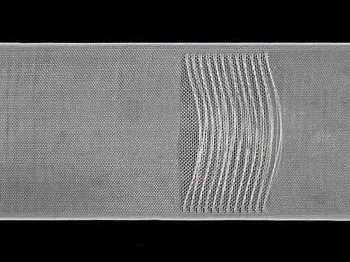 3744M - Köprülü & Rustik Pile Büzgü Şeridi / Şeffaf