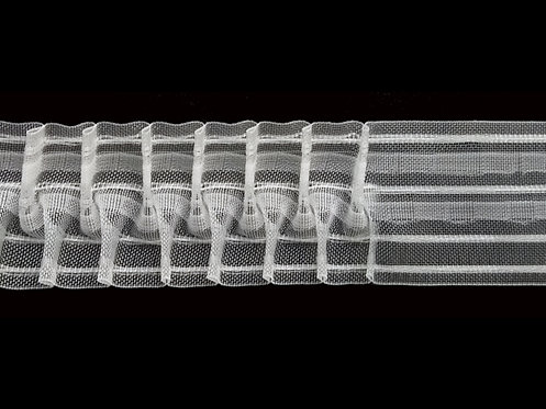 3973MP Cross Pleats Curtain Tapes / Transparent