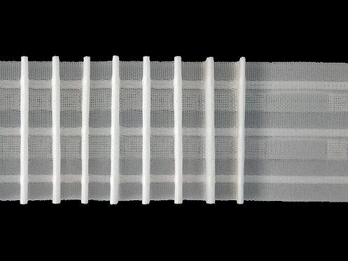 2967 - Tekli Pile Büzgü Şeridi / Beyaz