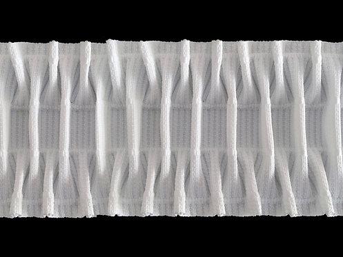 3527 - Petek İşkembe Pile Büzgü Şeridi / Beyaz