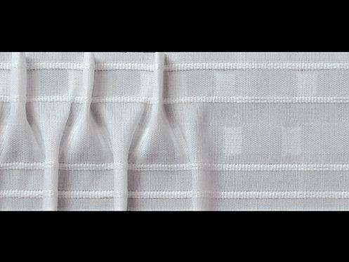 3953P - Çapraz Pile Büzgü Şeridi / Beyaz