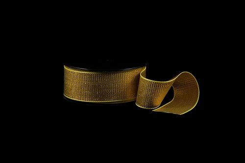 3447SS Sarı Simli Lüx Şerit 30 mm