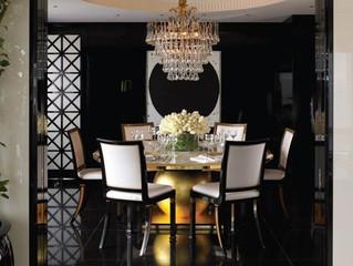 Дизайн интерьера столовой в темных тонах