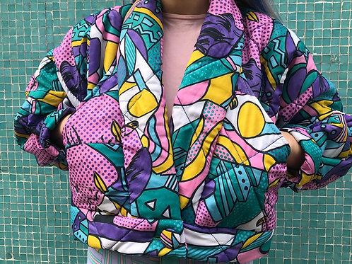 Veste kimono couvre lit recyclé