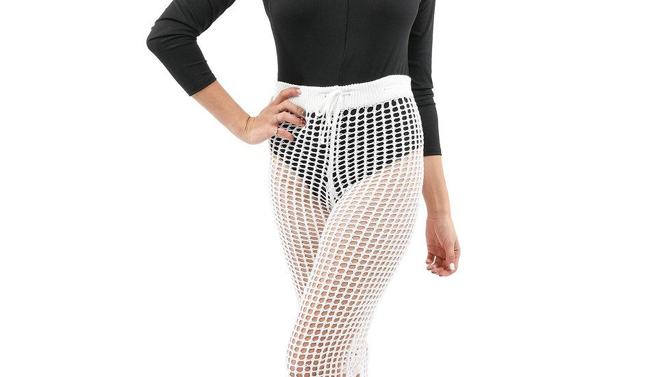 Maybrook Crochet Pant - White
