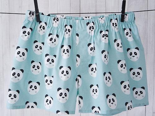 Men's shorts with a panda