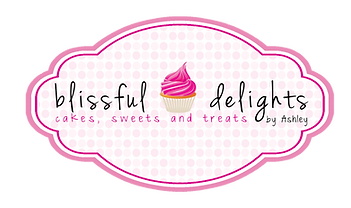 Bakery logo for Houston, TX based bakery Blissful Delights by Ashley