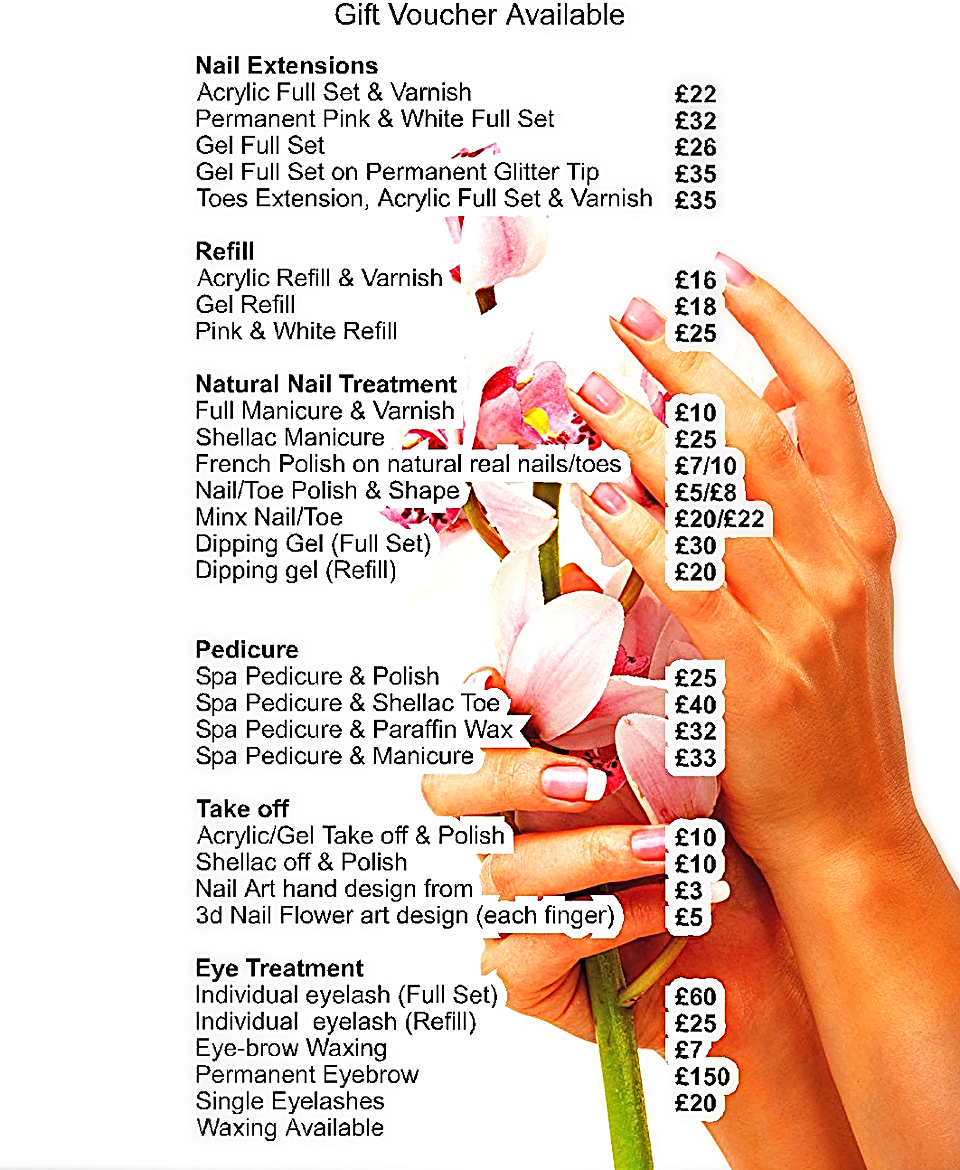 Nail salon in north finchley our service our service prinsesfo Choice Image