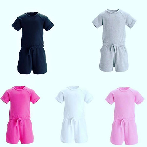 Childrens shorts playsuits