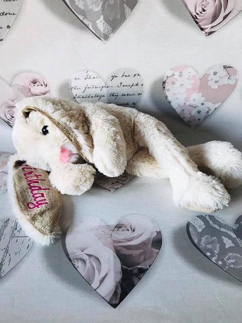 Super soft floppy bunny