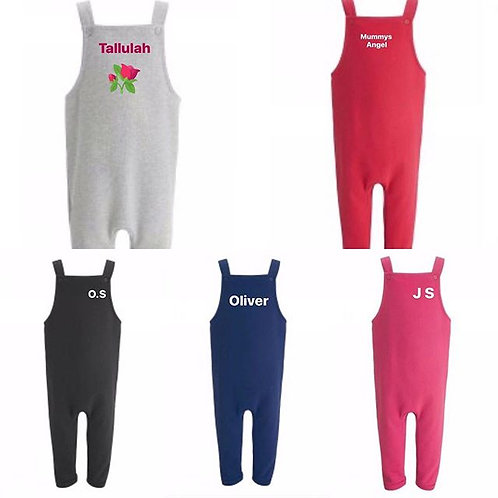 Kids soft dungarees