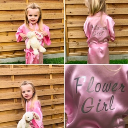 Childrens satin robe