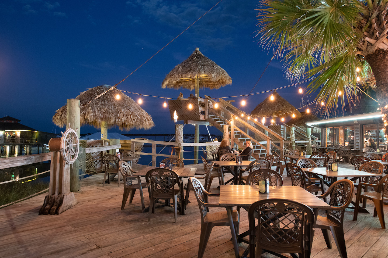 Conch House Marina Restaurant Patio Night