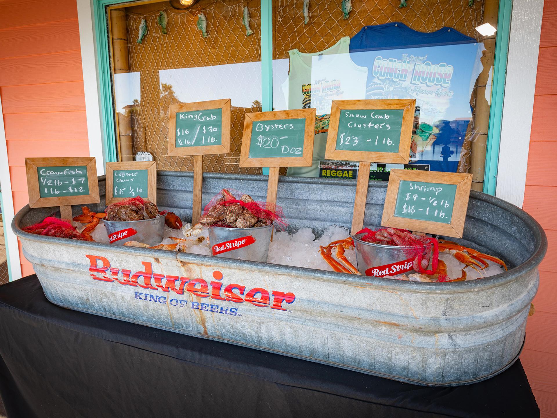 Conch House Marina Fresh Seafood Boil