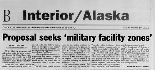 Steve Thompson military support article