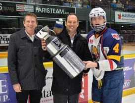Presenting Start Talking Cup with Rich Schaly