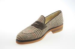custom tweed loafers