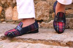 custom tartan slippers