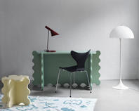 Curvy Desk Green & Curvy Table Mini Pale Yellow