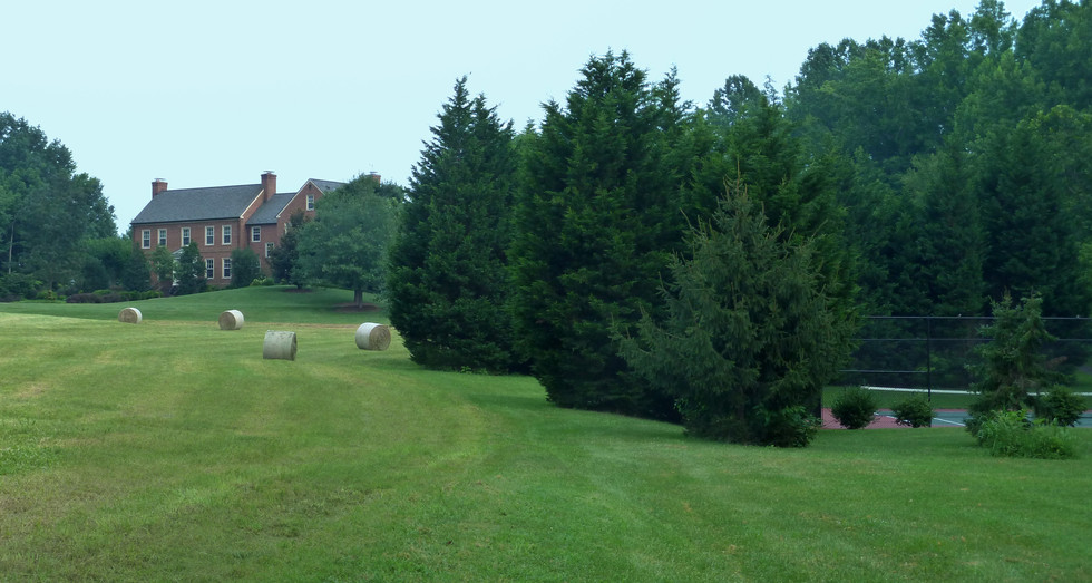 Hay Field/Tennis Court/Front of House