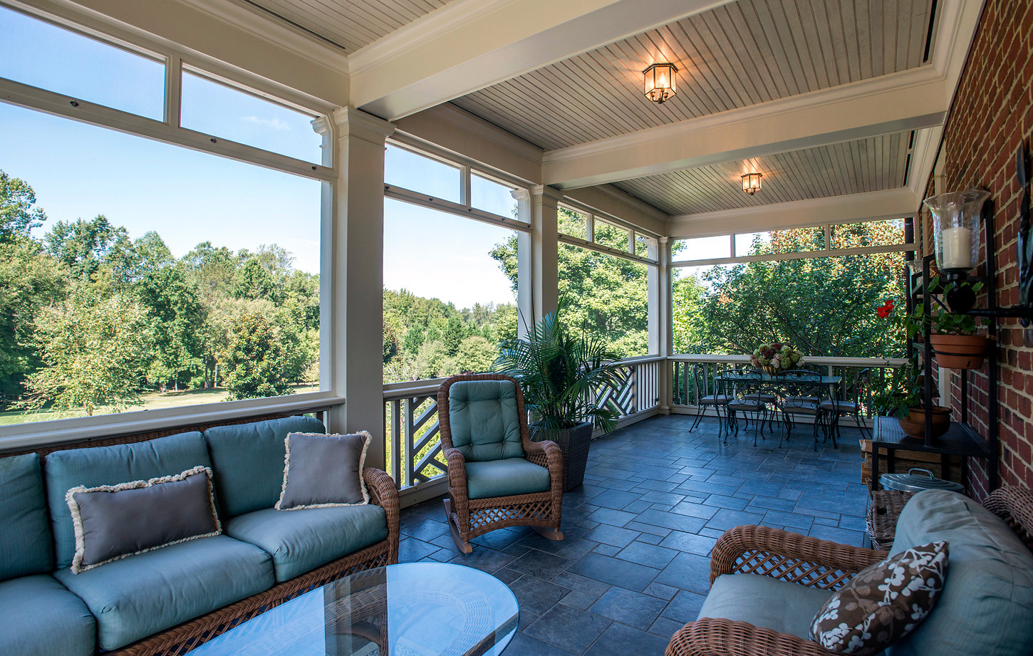Screened Porch off Kitchen & Family Room