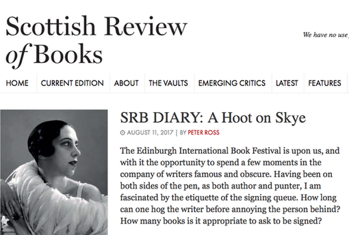 Review in Scottish Review of Books 2017
