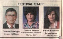 Festival Staff 1997