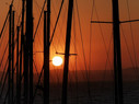 Sunset in Island of Naxos