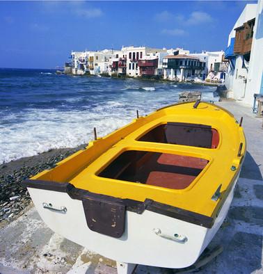 Mykonos Yellow Boat by St