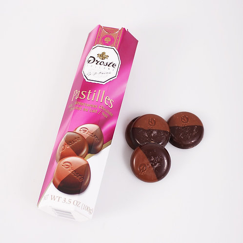 Droste Milk and Dark Chocolate pastilles